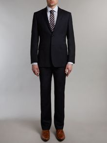 Tonal check contemporary suit