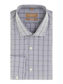 Richard James Mayfair Check Tailored Fit Long Sleeve Shirt