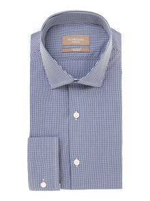 Richard James Mayfair Austin mini gingham long sleeve shirt