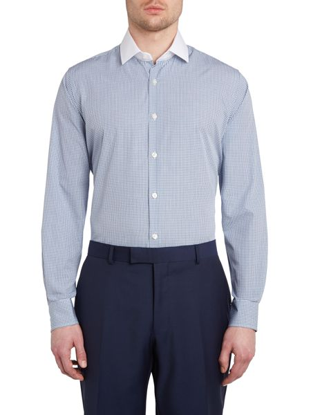 Richard James Mayfair Grid check long sleeve shirt