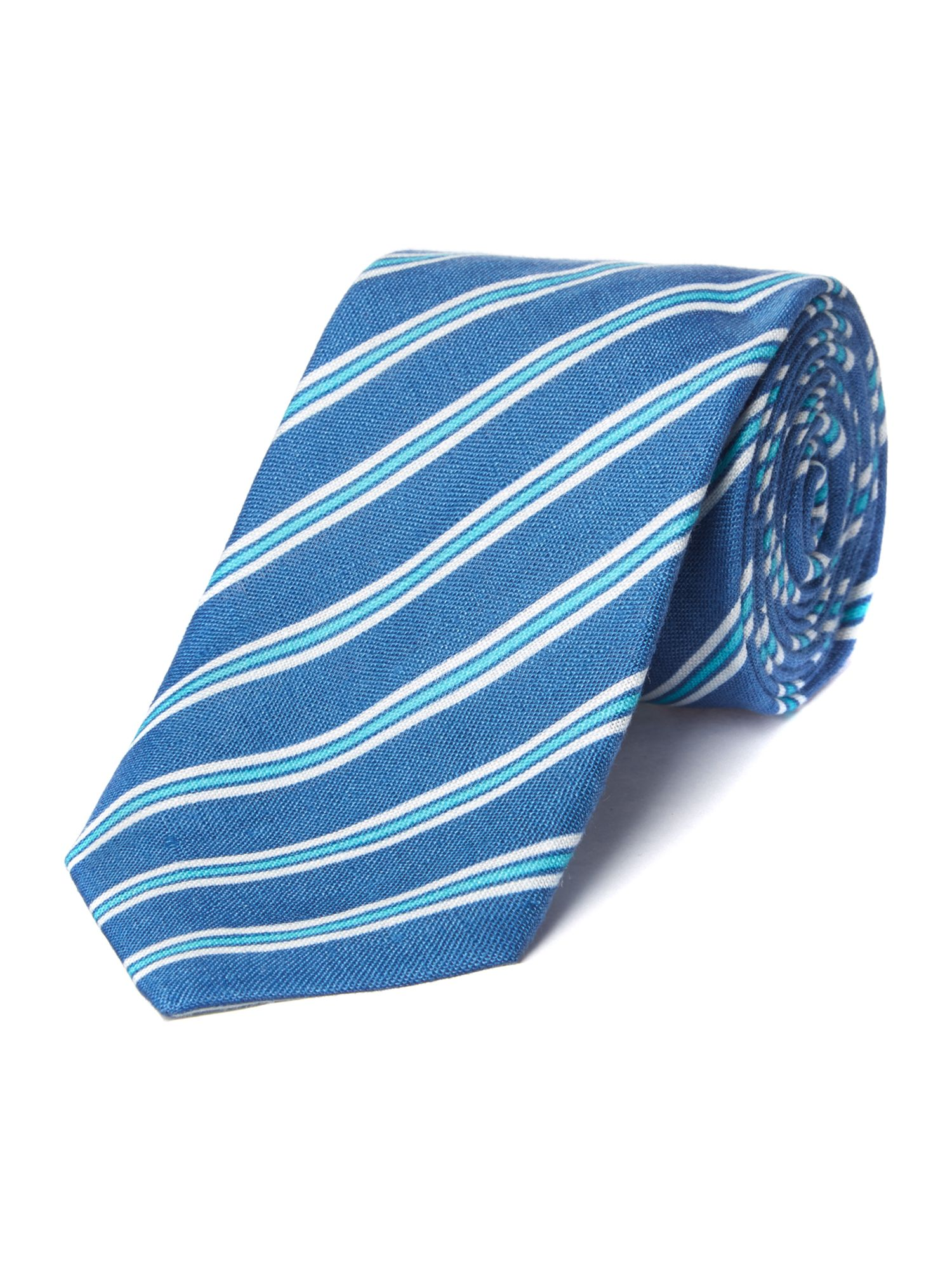 Bright stripe silk tie