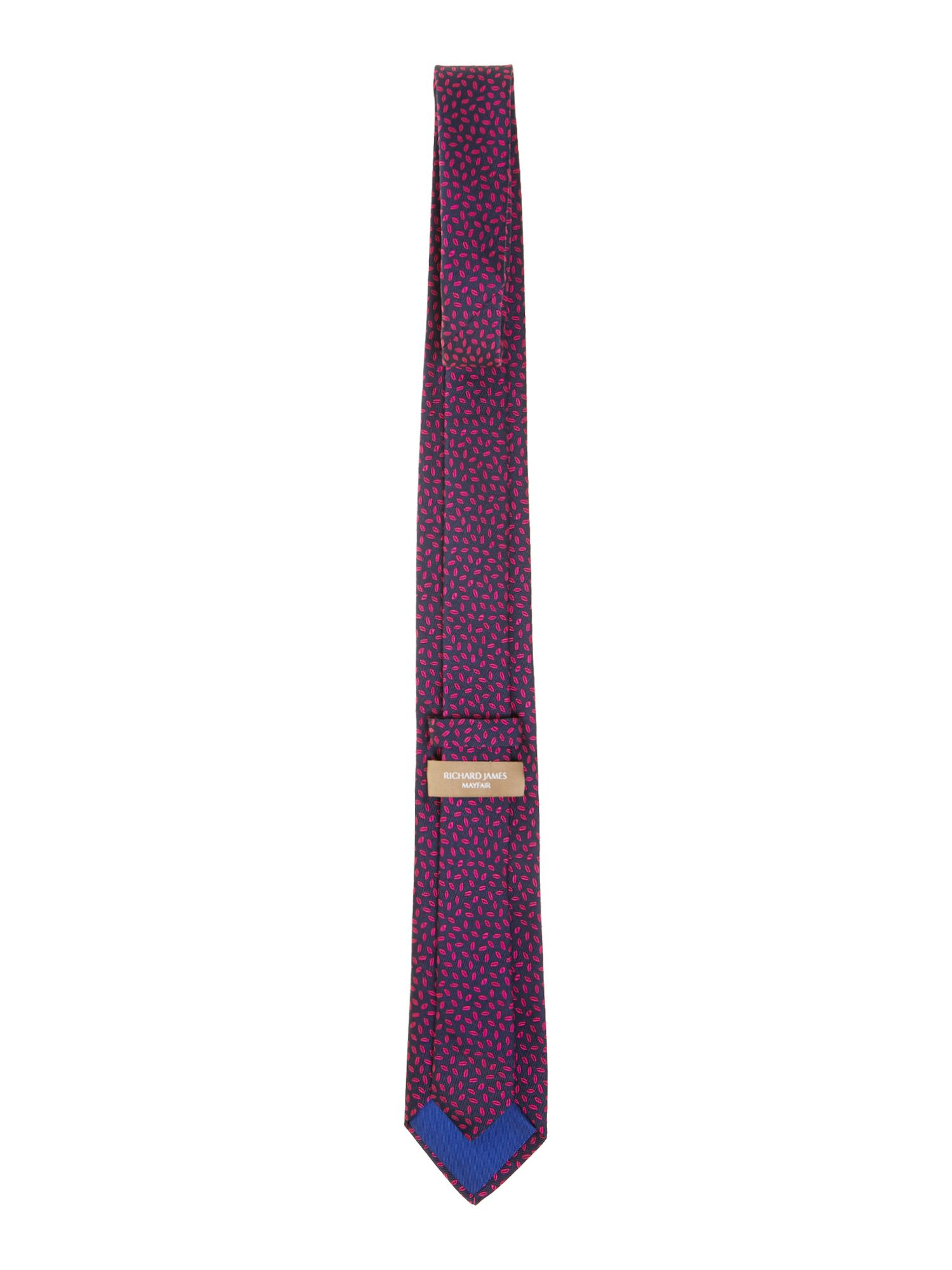 Senna leaves silk tie
