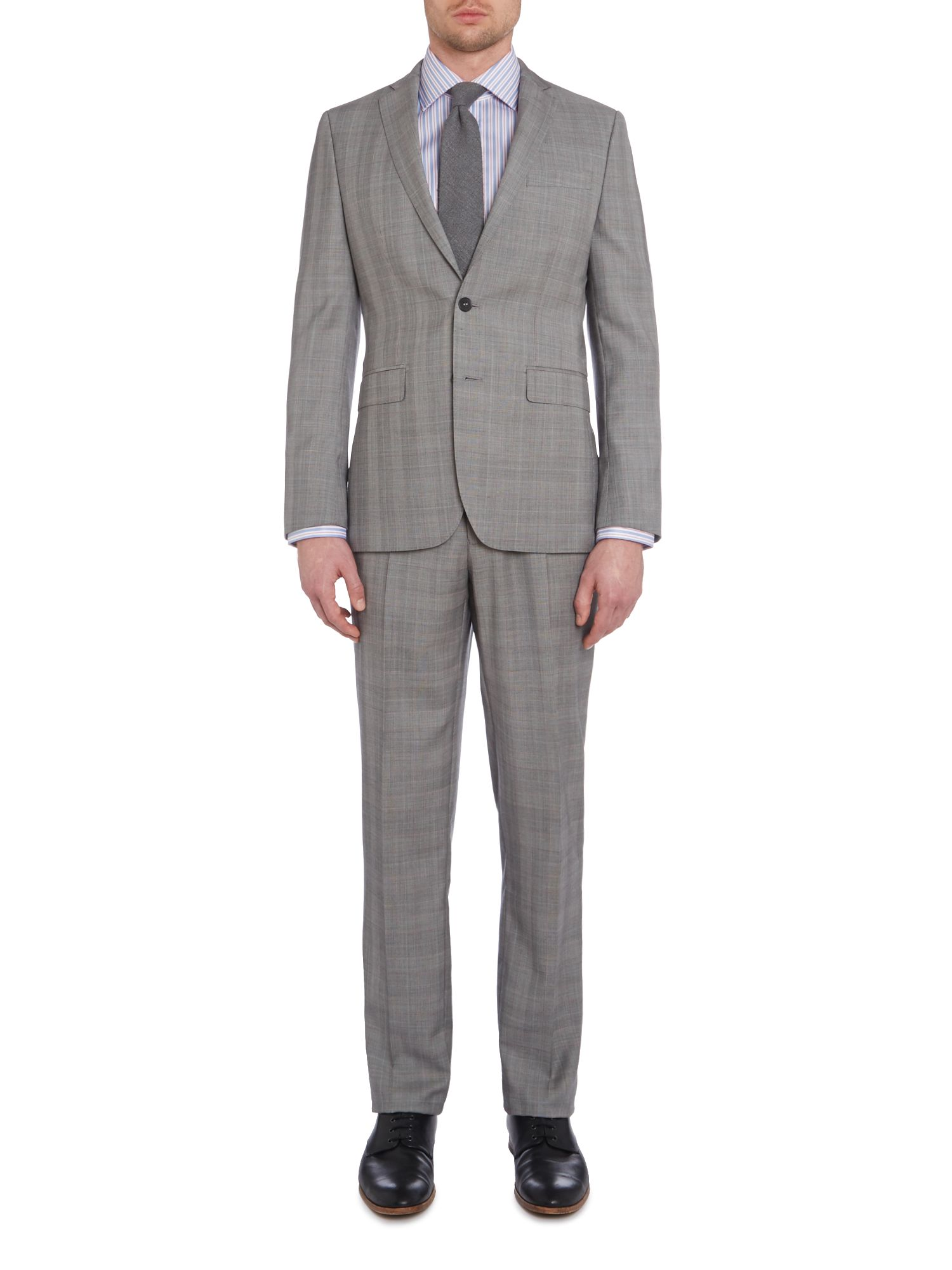 Contemporary prince of wales check suit