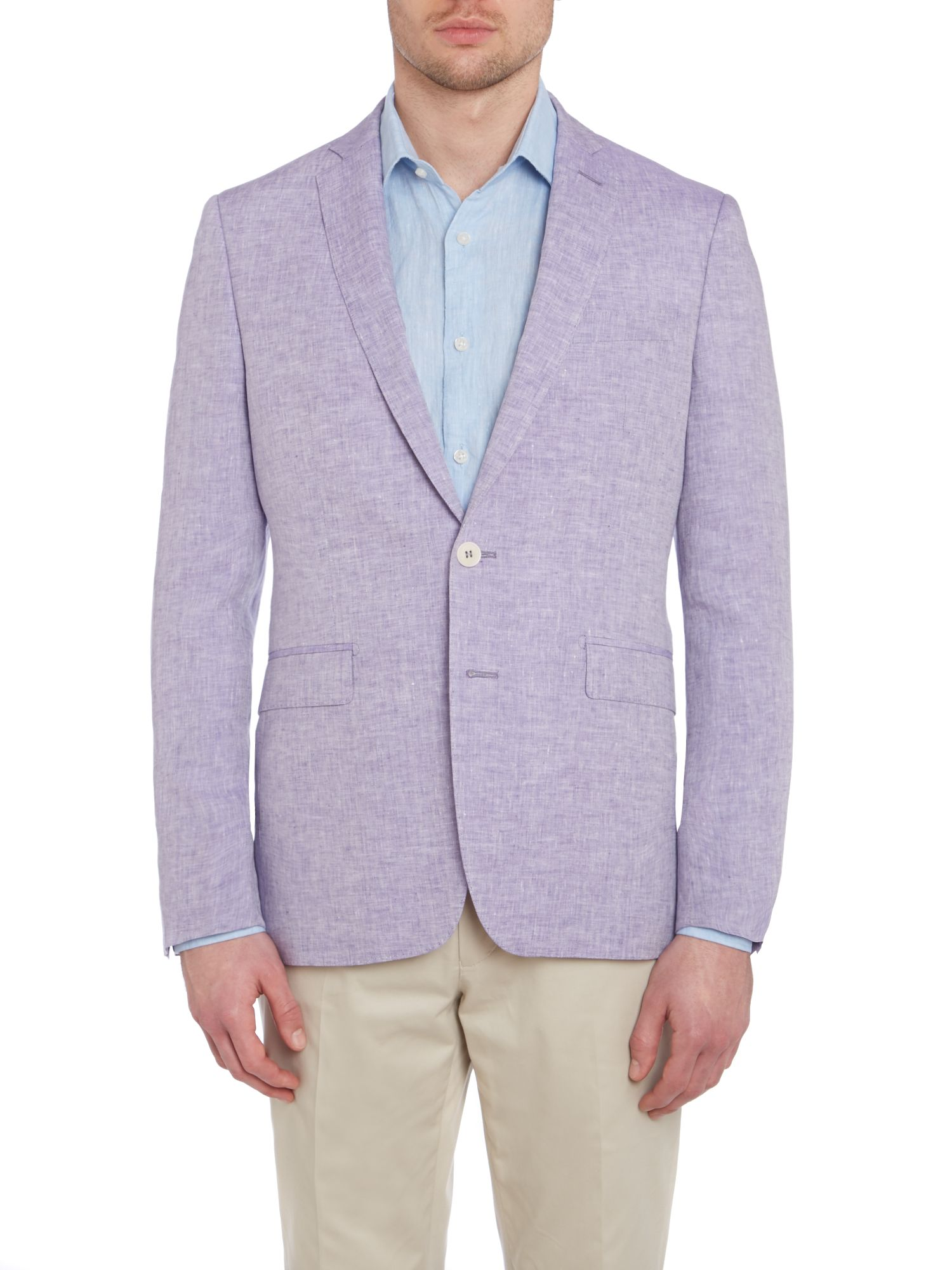 Contemporary chambray linen jacket