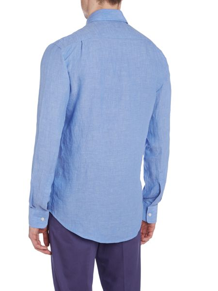 Richard James Mayfair Long sleeve casual linen shirt