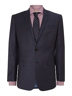 Check contemporary suit jacket