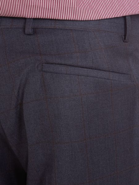 Richard James Mayfair Check contemporary suit trousers