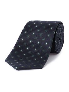 Flower dot silk tie