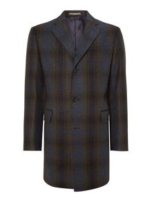 Checked contemporary overcoat