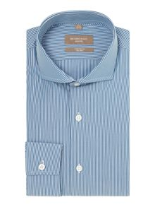 Richard James Mayfair Cutaway butchers stripe shirt