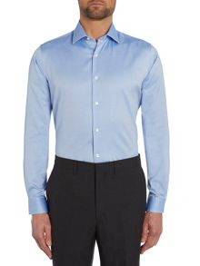 Richard James Mayfair Plain Tailored Fit Long Sleeve Shirt