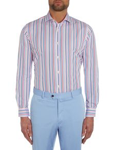 Stripe Tailored Fit Long Sleeve Shirt