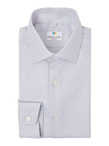 Richard James Mayfair Austin Plain Diamond Dobby Shirt