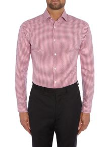 Richard James Mayfair L/S AUSTIN SLIM GINGHAM WEAVE S/C