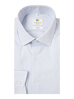 Ls Sc Fine Blue Stripe Shirt