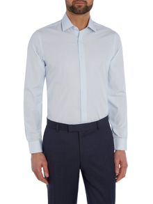 Richard James Mayfair Ls Sc Fine Blue Stripe Shirt