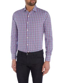 Richard James Mayfair Ls Sc Multi Gingham Shirt