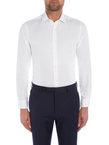 Richard James Mayfair Ls Sc White Ottoman Shirt