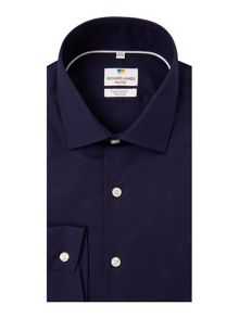 Richard James Mayfair Ls Sc Navy Stretch Shirt