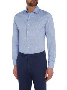 Richard James Mayfair Ls Blue Tonal Tree Sc Shirt