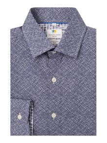 Richard James Mayfair Ls Printed Weave Sc Shirt