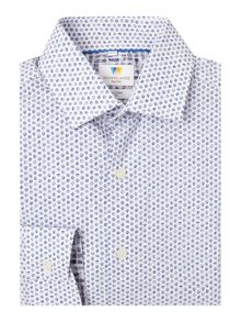 Richard James Mayfair Ls Sketchy Spot Print Sc Shirt