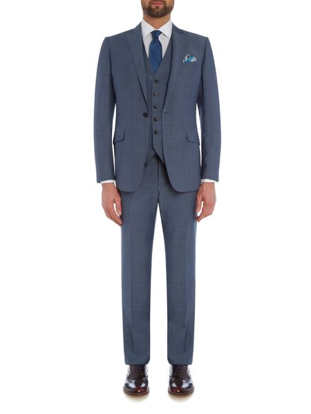 Richard James Mayfair Two Tone Flat Front Trouser