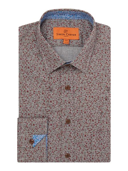 Simon Carter Printed Flower Shirt