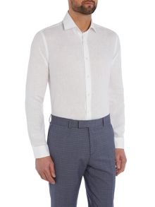 Richard James Mayfair L/S White Linen Shirt S/C Shirt