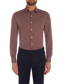 Richard James Mayfair Red Handrawn Spot Shirt