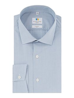 Navy Hairline Check Shirt