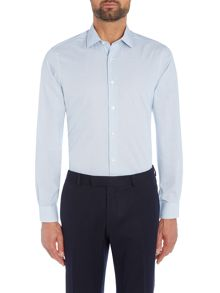 Richard James Mayfair Navy Hairline Check Shirt
