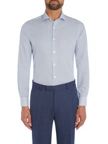 Richard James Mayfair Navy Dobby Bengal Shirt