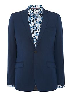 Teal Two Tone Mohair Suit Jacket