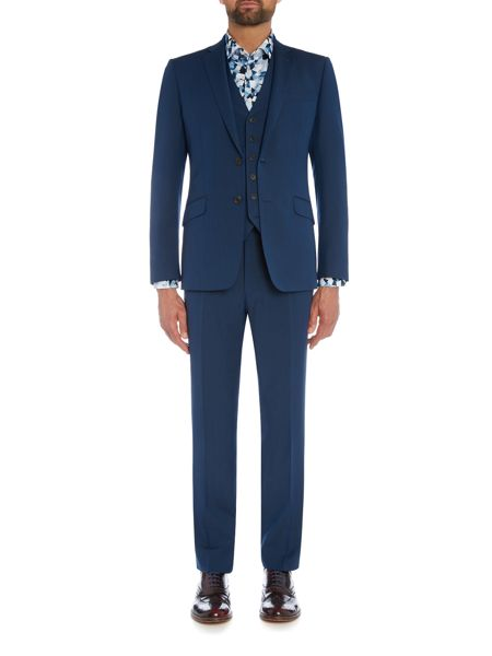 Richard James Mayfair Teal Two Tone Mohair Suit Trouser