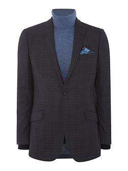 Charcoal Wide Check Suit