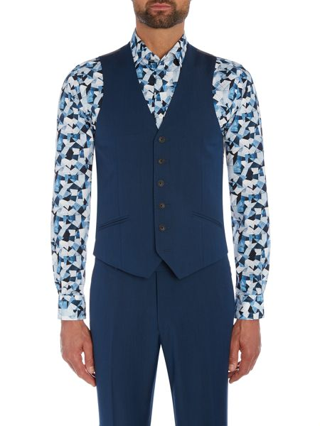 Richard James Mayfair Teal Two Tone Mohair Waistcoat