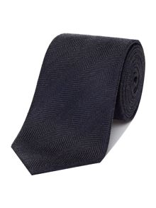 Richard James Mayfair Herringbone Silk Linen Tie