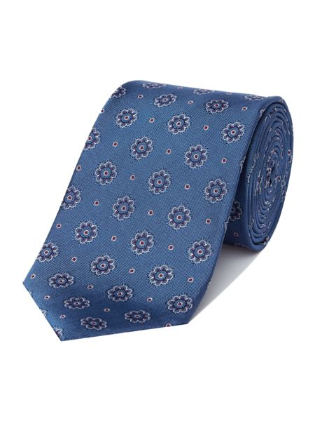 Richard James Mayfair Blue Bloom Silk Tie