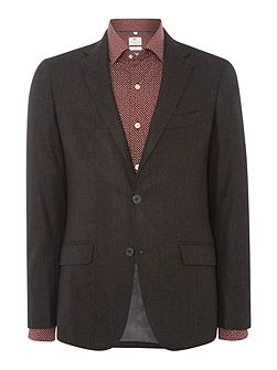 Mens Window Pane Slim Fit Wool Jacket