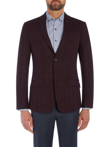 Richard James Mayfair Mens Linear Texture Slim Fit Wool Jacket