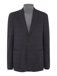 Richard James Mayfair Mens Brushed Ctn Check Slim Wool Jacket