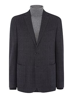 Mens Brushed Ctn Check Slim Wool Jacket