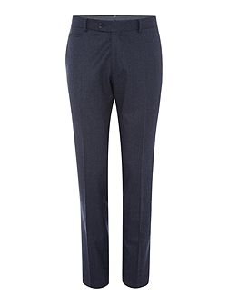Mens Milled Puppytooth Blue Wool Trouser