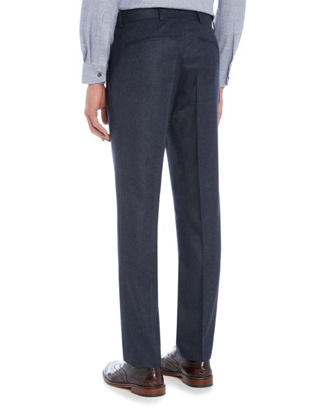 Richard James Mayfair Mens Milled Puppytooth Blue Wool Trouser