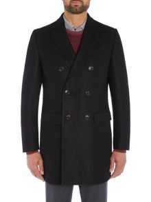 Richard James Mayfair Black Double Breasted Boucle Coat