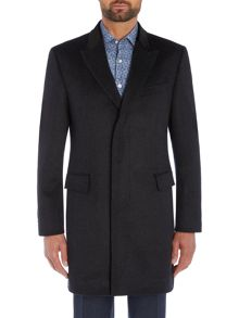 Richard James Mayfair Charcoal Wool Diamond Epsom Coat