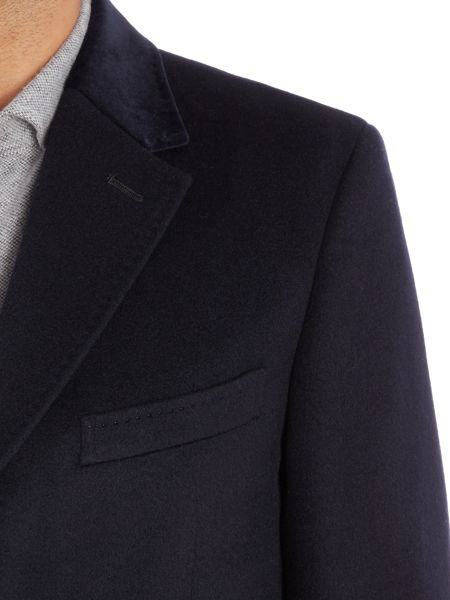 Richard James Mayfair Navy Wool Cashmere Coat