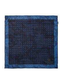 Richard James Mayfair Silk/Wool Double Print Spot Hankie