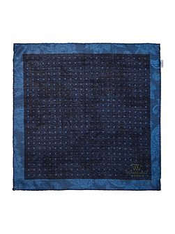 Silk/Wool Double Print Spot Hankie